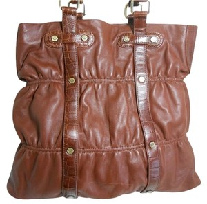 Via Spiga Shoulder Tote in Carmel Brown
