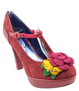 Poetic License Suede Bohemian Burgundy Platforms