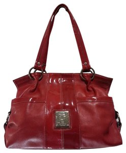 Tignanello Patent Leather Trim Handbag Shoulder Bag