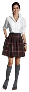Lands' End Wool Pleated Mini Skirt Multi