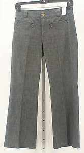 7 For All Mankind X Gray Charcoal Stripe B128 Boot Cut Jeans