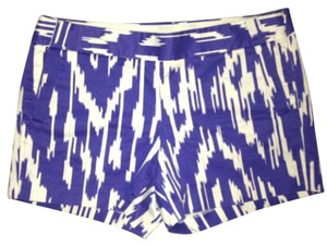 J.Crew Dress Shorts Purple and white