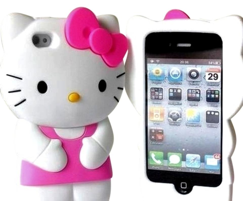 6821cd452 Hello Kitty White/Pink Iphone 4s Face Cover Tech Accessory - Tradesy