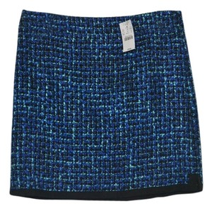 J.Crew Wool Plaid Mini New Mini Skirt Blue