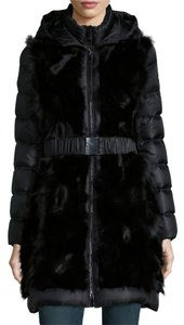Dawn Levy Winter Fur Stunning Hood Vest Belt Luxury Amazing Coat