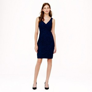 J.Crew Acropolis Blue J. Crew Sara Dress In Leaver's Lace Dress