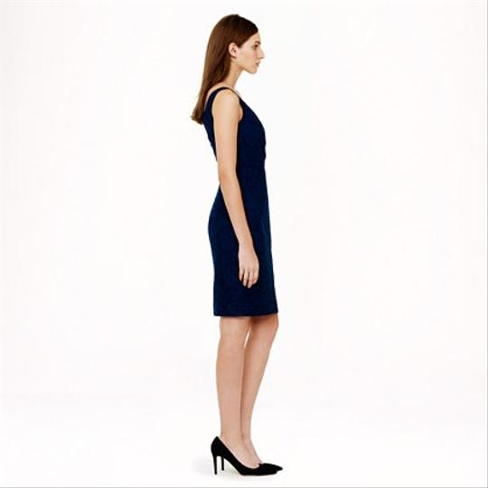 J.Crew Acropolis Blue Lace Sara In Leaver's Traditional Bridesmaid/Mob Dress Size 8 (M) Image 2