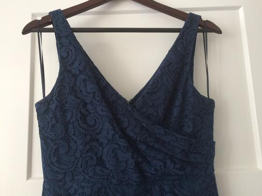 J.Crew Acropolis Blue Lace Sara In Leaver's Traditional Bridesmaid/Mob Dress Size 8 (M) Image 5