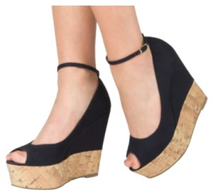 JustFab Blac Wedges