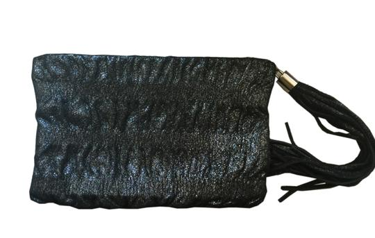 Jenny Bird Black Metallic Clutch Image 1