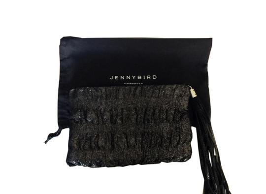 Jenny Bird Black Metallic Clutch Image 2