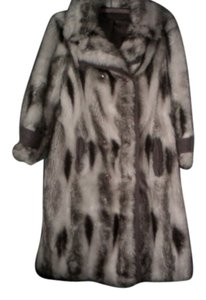 Vintage Faux Fox Matching Hat Fur Coat