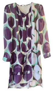 Diane von Furstenberg short dress Purple Polka Dot Silk on Tradesy