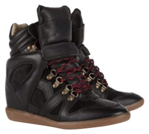 Isabel Marant Sneaker Wedge Black Boots