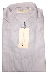 Burberry Button Down Shirt Light Grey