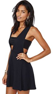 Nasty Gal V Neck Lbd Dress