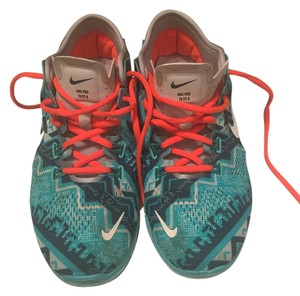 Nike Tribal Print - Blue with Orange Laces Athletic