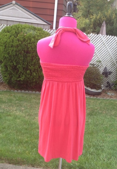 Victoria's Secret Halter Strapless Bright Vivid Stretchy Convertible Tie Elastic Long Spandex Cotton Fitted Loose Adorable Classic Tunic
