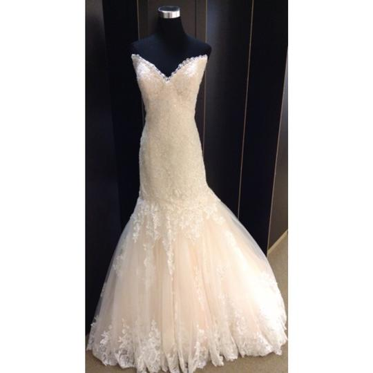 Maggie Sottero Lace Wedding Gown: Maggie Sottero Ivory/Blush Lace Marianne Formal Wedding