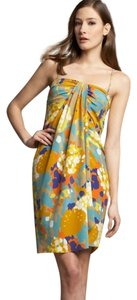 Diane von Furstenberg Floral Removable Straps Ruched Detail Day Wear Evening Wear Dress