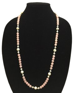 Genuine Freshwater Pearl and Rose Quartz Vintage Necklace [ Roxanne Anjou Closet ]