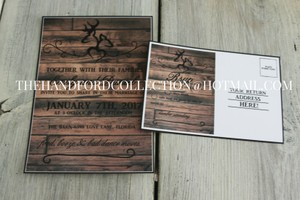 Set Of 100 Rustic Deer Invitations And Rsvps