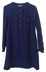 Gap short dress Blue with black polka dots on Tradesy