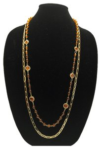 Other Faux Tortoiseshell Vintage Necklace [ Roxanne Anjou Closet ]