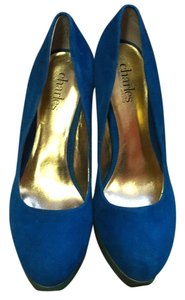 Charles David Royal blue and green Platforms