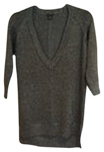 Club Monaco V Neck Metallic 3/4 Sleeve Sweater