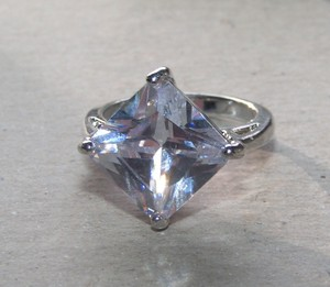 Huge White Gold Filled Topaz Fashion Ring Free Shipping