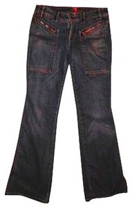 7 For All Mankind Size 26 Lowrise Dark Straight Leg Jeans-Dark Rinse