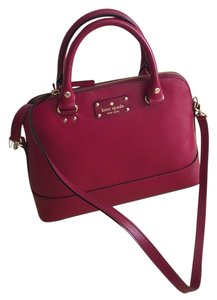Kate Spade Satchel in RED PLUM