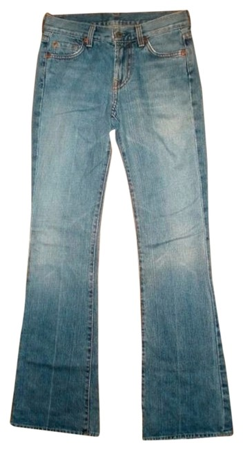 7 For All Mankind Size 25 Lowrise Straight Leg Jeans