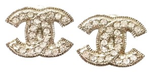 Chanel Authentic Chanel Blinky Super Shiny CC Piercing Earrings