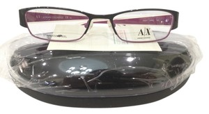 A|X Armani Exchange New Armani Exchange AX227 Color 0YPC Black/Burgundy Metal Eyeglasses Frame 50mm