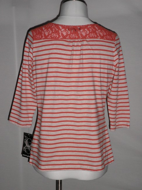 Ava & Grace Top Ivory/Orange