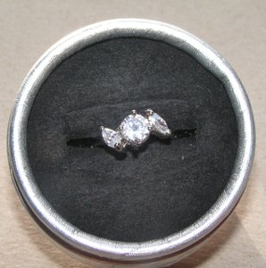 Specialty White Topaz Engagement Ring Free Shipping