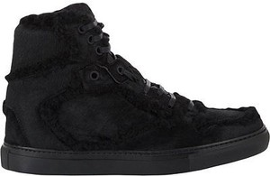 Balenciaga Lace Up High Top Sneakers Black Athletic