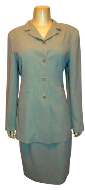 Montage MONTAGE COLLECTION SKIRT SUIT BLAZER SIZE 10 LIGHT GRAY P15 Image 1