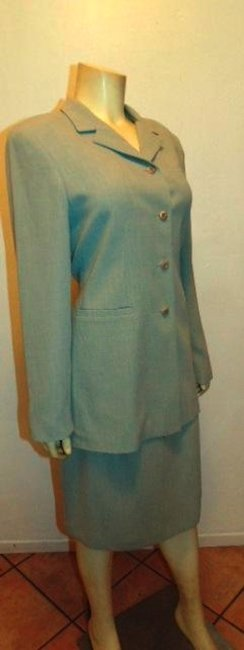 Montage MONTAGE COLLECTION SKIRT SUIT BLAZER SIZE 10 LIGHT GRAY P15 Image 2