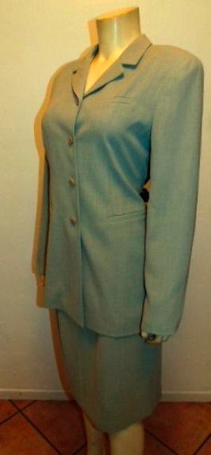 Montage MONTAGE COLLECTION SKIRT SUIT BLAZER SIZE 10 LIGHT GRAY P15 Image 3