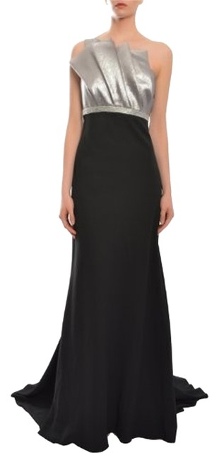 Item - Black and Silver Long Formal Dress Size 12 (L)
