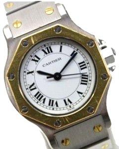 Cartier AUTHENTIC CARTIER Santos Octagon Ladies Wristwatch Automatic SS and YG