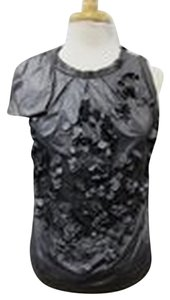 Robert Rodriguez Paillette Sleeveless Top Gray