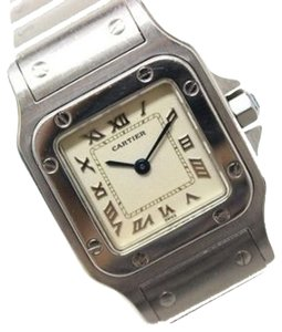 Cartier AUTHENTIC CARTIER Santos Galbee SM Ladies Women's Wristwatch SS Quartz