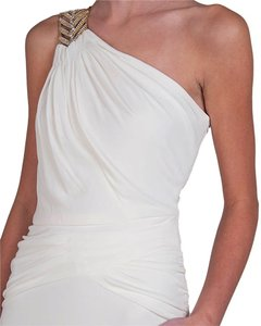 Badgley Mischka Grecian Art Deco Draped Dress
