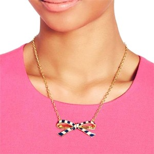 Kate Spade KATE SPADE BOW STRIPED NECKLACE