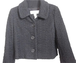 Cacharel Vintage Cropped French Chic Unusual Black Jacket
