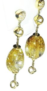 Di MODOLO Di MODOLO 18 Karat Gold Earrings with Diamonds & Rutile Quartz
